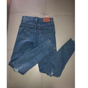 Levis High rise super skinny in great condition